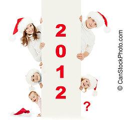 todos, familia , hijo, uno, hats:, codificado, espacio,...