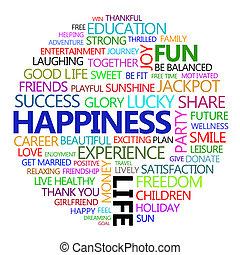todos, sobre, felicidad