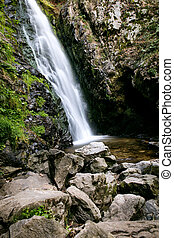 Todtnauer waterfalls, tourist attraction at the black...