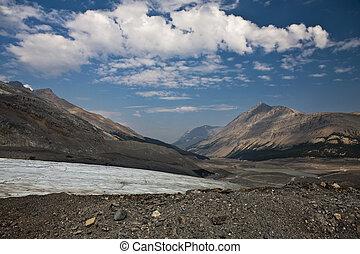 Toe of receding Columbia Ice Glacier - Jasper National Park - Alberta - Canada