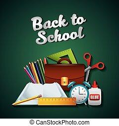 toebehoren, school, set, back