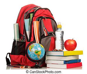toebehoren, schooltas, school