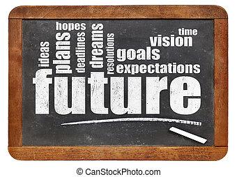 toekomst, dromen, doelen, en, hoop