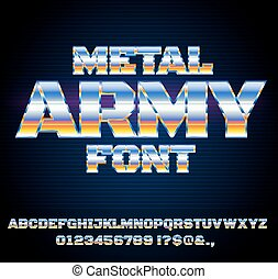 toekomst, lettertype, retro