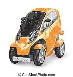 toekomst, mini, auto