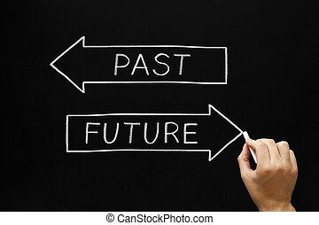 toekomst, of, voorbij