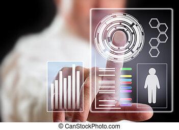 toekomst, technologie, display