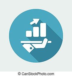 toenemend, financieel, pictogram