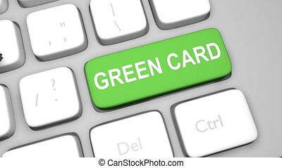 toepassing, animatie, groen sleutel, toetsenbord, kaart