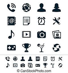 toepassing, iconen
