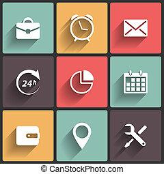 toepassing, web beelden, in, plat, ontwerp