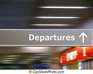 toerist, info, signage, vertrek