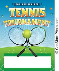 toernooi, tennis, illustratie