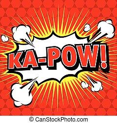 toespraak, komisch, bel, ka-pow!