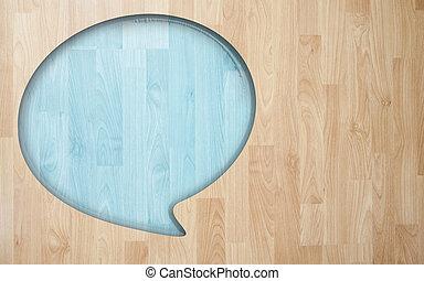 toespraak, noteren, met, hout, plank, tegel, textuur,...
