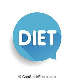 toespraak, vector, bel, dieet, etiket