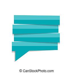 toespraak, vector, bel, mal, illustratie
