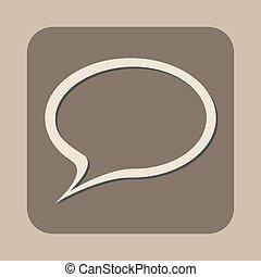 toespraak, vector, bel, pictogram