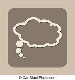 toespraak, witte , vector, bel, pictogram