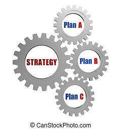 toestellen, strategie, plannen, zilver, grijze