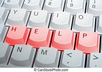 toetsenbord, helpen, rood