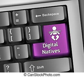 toetsenbord, illustratie, identiteit, digitale
