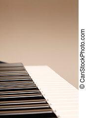 toetsenbord, met, copyspace