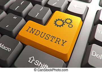 toetsenbord, met, industrie, button.