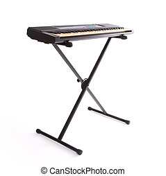 toetsenbord, vrijstaand, op wit