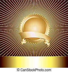 toewijzen, medaille, met, met, luxe, backg