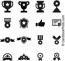 toewijzen, pictogram, set