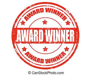 toewijzen, winner-stamp