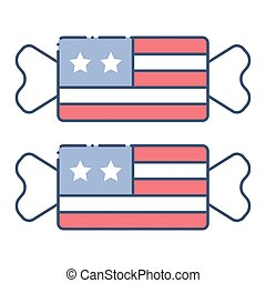 Toffee vector, United state independence day related icon