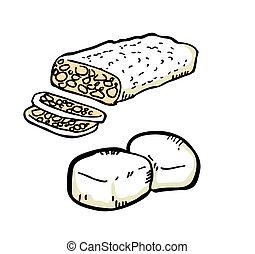 Tofu and fermentized bean