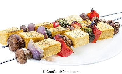 Tofu kebab.