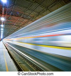 tog, motion slør