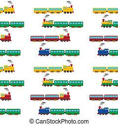 tog, seamless, mønster