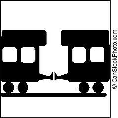 tog, silhuet
