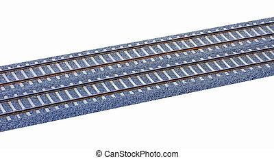 tog, skinne track