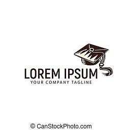 toga cap logo design concept template