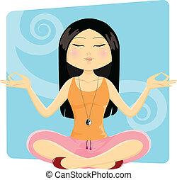 toga girl - girl in yoga position