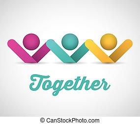 together concept design - together concept design, vector...