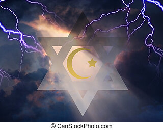 Together - Star of David and Muslim Cresent