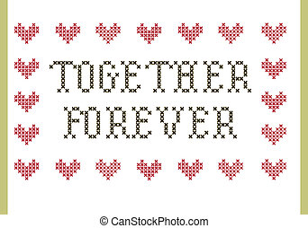 Together Forever embroidery