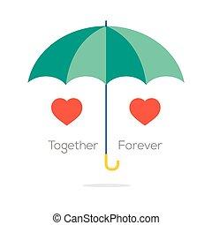 Together Forever Love Concept.