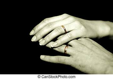 Together forever - Man and woman joined in marriage