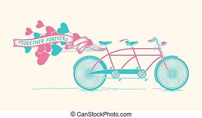Together forever - vintage tandem b