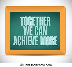 together we can achieve more board message