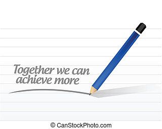 together we can achieve more message illustration design ...