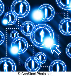 social network pattern - Together with social network...